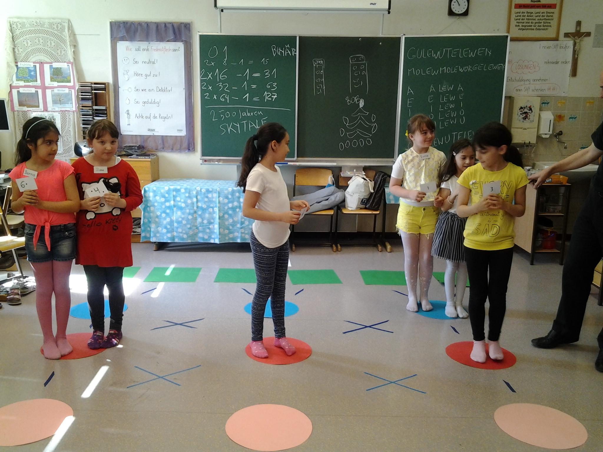 Kinder in Klassenzimmer bei WIZIK Workshop