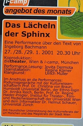 Plakat Das Lächeln der Sphinx