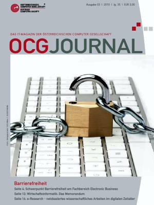 Cover: OCG Journal 3/2010
