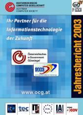 Cover: OCG Jahresbericht 2003