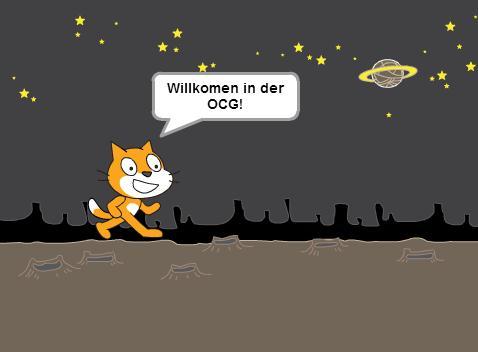 OCG Scratch Workshop: Scratch Cat im Weltall