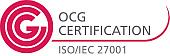 Logo: ISO/IEC 27001 @ OCG