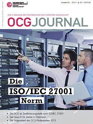 Cover: OCG Journal 3/2013