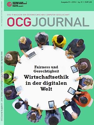 Cover: OCG Journal 1/2016 - Wirtschaftsethik in der digitalen Welt