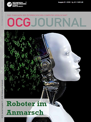 Cover: OCG Journal 1/2018 - Roboter im Anmarsch