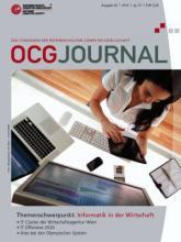 Cover: OCG Journal 2/2012