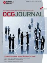 Cover: OCG Journal 2/2010