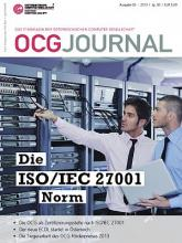 Cover: OCG Journal 3/2013