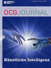 Cover: OCG Journal 1/2017 - Künstliche Intelligenz