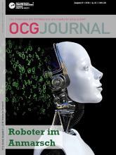Cover: OCG Journal 1/2018 - Roboter im Anmarsch