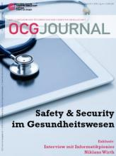 Cover: OCG Journal 2/2019 - Safety & Security im Gesundheitswesen